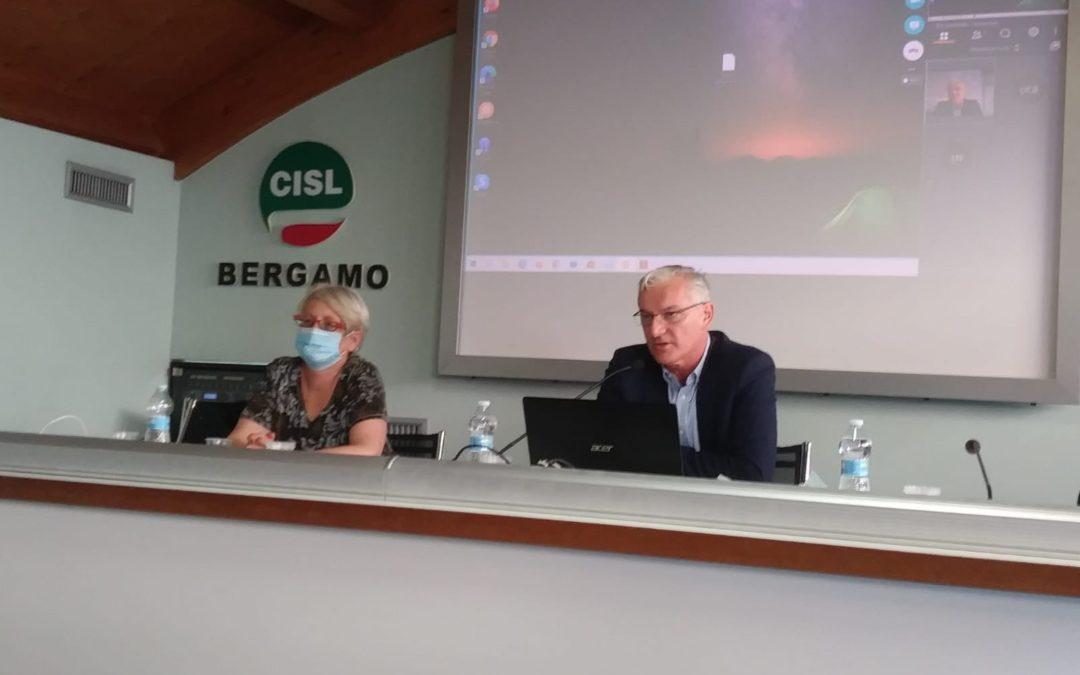 """Lavoro. Furlan all'Esecutivo della Cisl di Bergamo. """"Questa e' una provincia nel cuore di tutti  gli italiani per la tragedia che ha vissuto. Ricostruiamo ora  il Paese senza commettere gli errori del passato"""""""